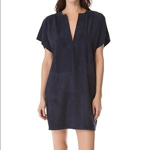 VINCE Suede Navy Tunic Dress Unworn